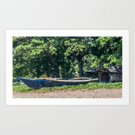 Blue Filipino Kayak Art Print