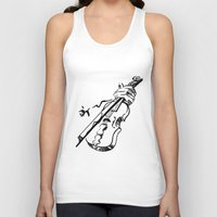 violin Tank Tops featuring Violin by Azure Cricket