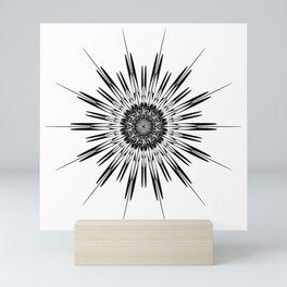 Schematic stars, Stars and curved. Mini Art Print