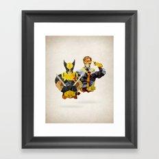 Polygon Heroes - Xmen Framed Art Print