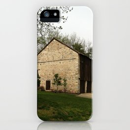 Barn at Duportail House iPhone Case
