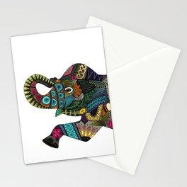 asian elephant white Stationery Cards