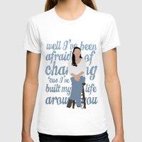 glee T-shirts featuring Brittana - Glee - Santana Lopez [Solo] Landslide typography minimalist design by Hrern1313