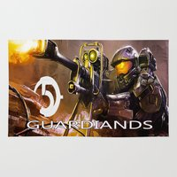 guardians Area & Throw Rugs featuring Halo5 Guardians by store2u