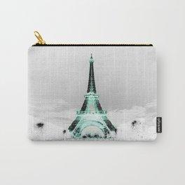 pariS Black & White + Mint Carry-All Pouch