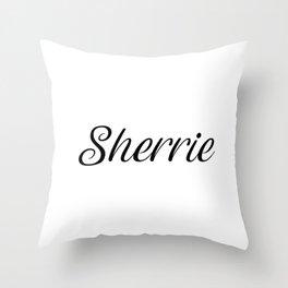 Name Sherrie Throw Pillow