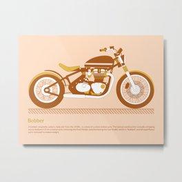 Bobber Motorcycle Metal Print
