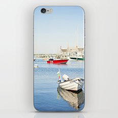Boats Reflecting in Harbor in Nantucket iPhone & iPod Skin