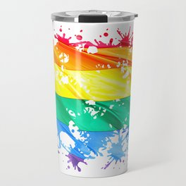 LGBTQ Splatter Travel Mug