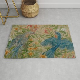 Bluebirds in Spring Thicket Rug