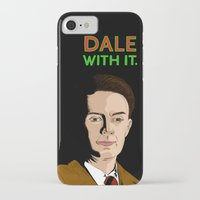 dale cooper iPhone & iPod Cases featuring DALE WITH IT. by Chris Piascik