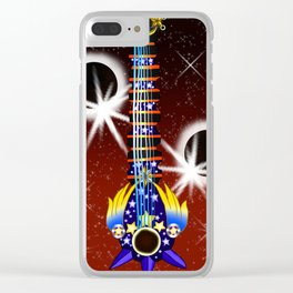 Fusion Keyblade Guitar #144 - Total Eclipse & Star Seeker Clear iPhone Case