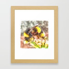Busy Busy Busy Watercolor Framed Art Print
