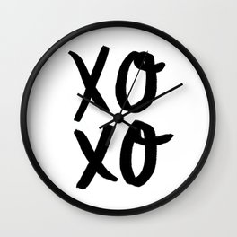 Xo Hugs & Kisses Wall Clock
