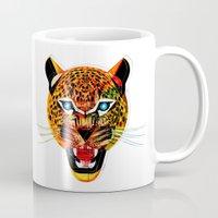 jaguar Mugs featuring jaguar by Alvaro Tapia Hidalgo