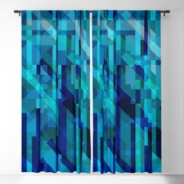 abstract composition in blues Blackout Curtain