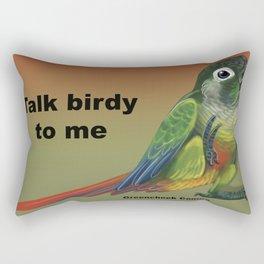 Talk Birdy To Me -Greencheek Conure Rectangular Pillow