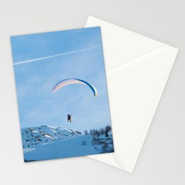 Paragliding, Alps, Arcs 1800 Stationery Cards