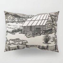 Mountain Cabin Original b/w Pillow Sham