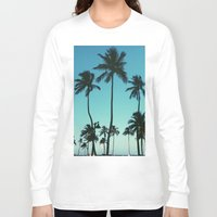 palm trees Long Sleeve T-shirts featuring Palm Trees by Whitney Retter