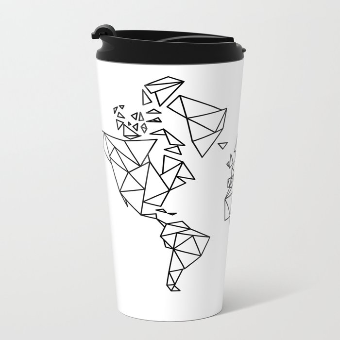 Geometric low poly map of the world polygon geometry metal geometric low poly map of the world polygon geometry metal travel mug sciox Image collections