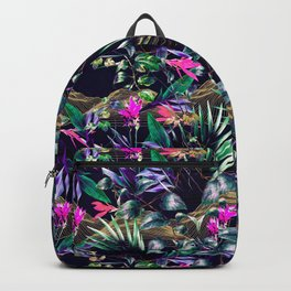 Golden Waves in the Dark of the Jungle Backpack