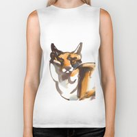 mr fox Biker Tanks featuring Mr Fox by Ryan Hodge Illustration