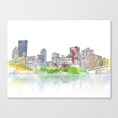 Pittsburgh Downtown Canvas Print