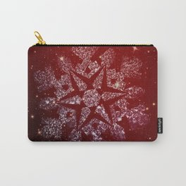 Elegant Christmas Snowflake Carry-All Pouch