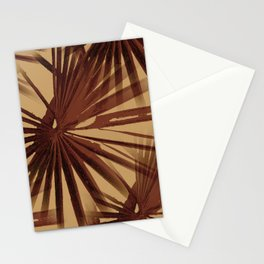Burgundy and Coffee Tropical Beach Palm Vector Stationery Cards
