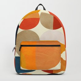 geometric abstract shapes autumn Backpack