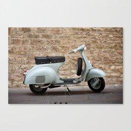 Italian vintage motorcycle Canvas Print