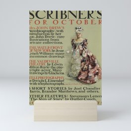 manifesto scribners for october. 1899 Mini Art Print