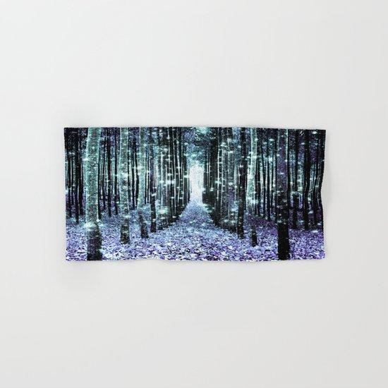 Magical Forest Lavender Aqua/Teal Hand & Bath Towel
