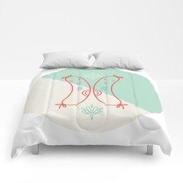 Cheerio Sausages - Green Colourway Comforters