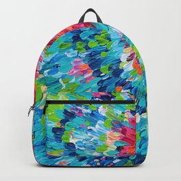 Color Burst Finger Painting Backpack