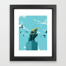 Depression Framed Art Print