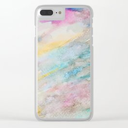 Watercolor abstract many color no.06 Clear iPhone Case