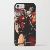 drums iPhone & iPod Cases featuring Drums  by Alice Mari