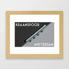 Kraanspoor Amsterdam Framed Art Print