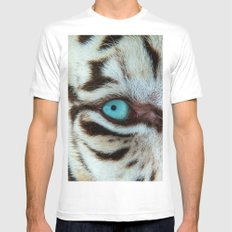 WHITE TIGER BEAUTY MEDIUM White Mens Fitted Tee