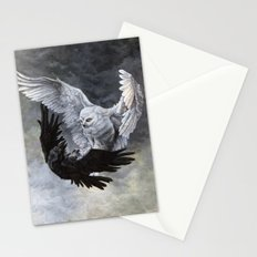 Yin Yang Owl and Raven Stationery Cards