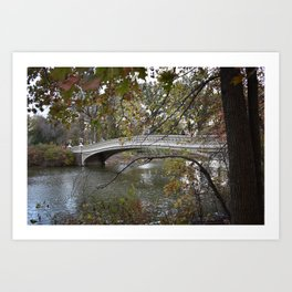 New York City Central Park Bridge Art Print