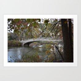 New York City Central Park Bridge Art Print