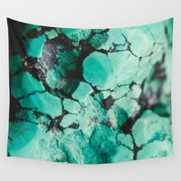 turquoise Wall Tapestries featuring Turquoise  by Laura Ruth