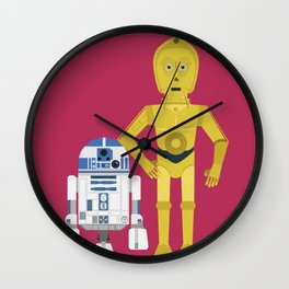C3P0 and R2D2 vector Wall Clock
