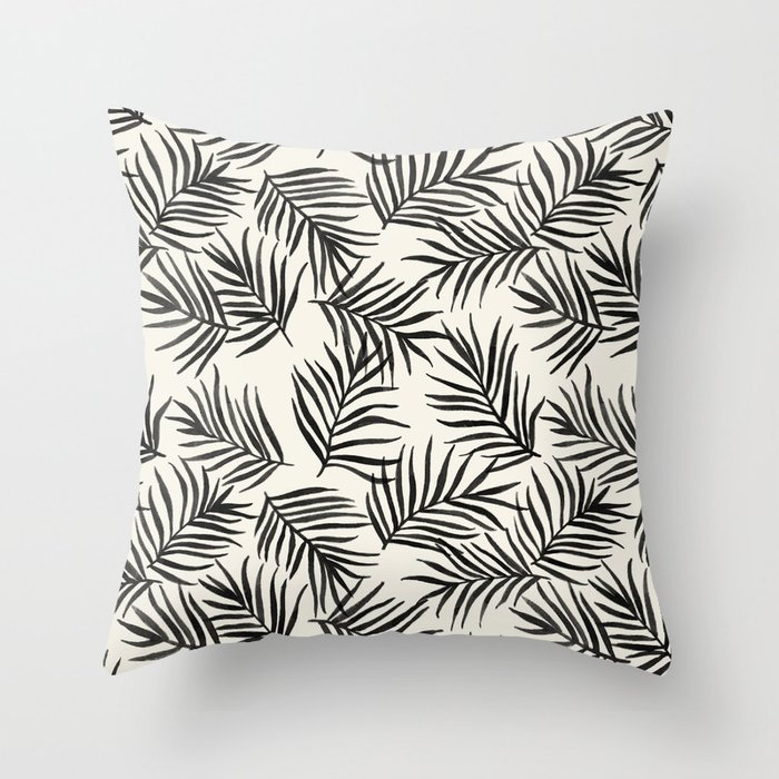 Pam Leaves Throw Pillow