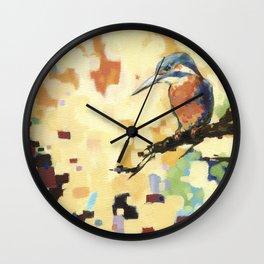 Kingfisher Isolated Wall Clock