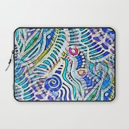 Under the Sea Abstract Nautilus  Laptop Sleeve