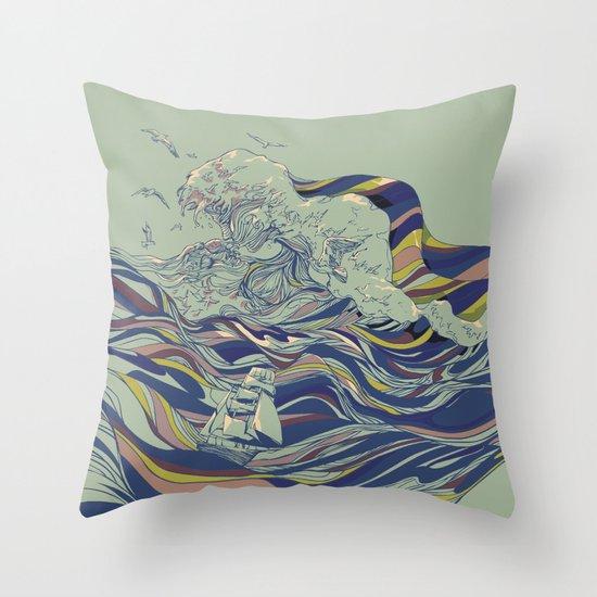 OCEAN AND LOVE Throw Pillow